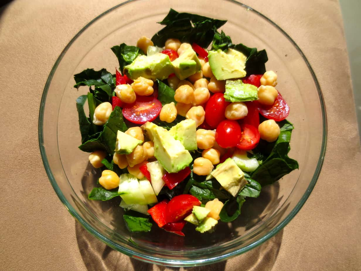Chick Pea Spinach Salad