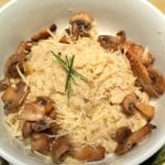Rosemary Mushroom Rice: Cheater's Risotto