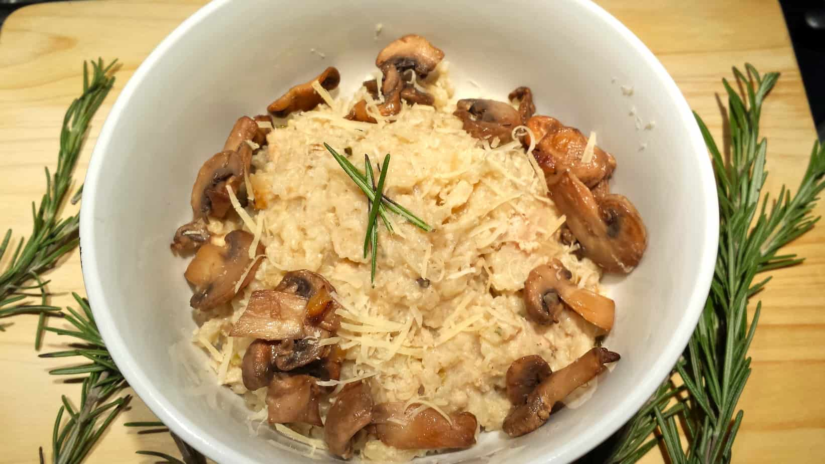 Easy Mushroom Brown Rice Risotto