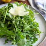 Arugula Salad with Lemon Basil Dressing | www.frugalnutrition.com