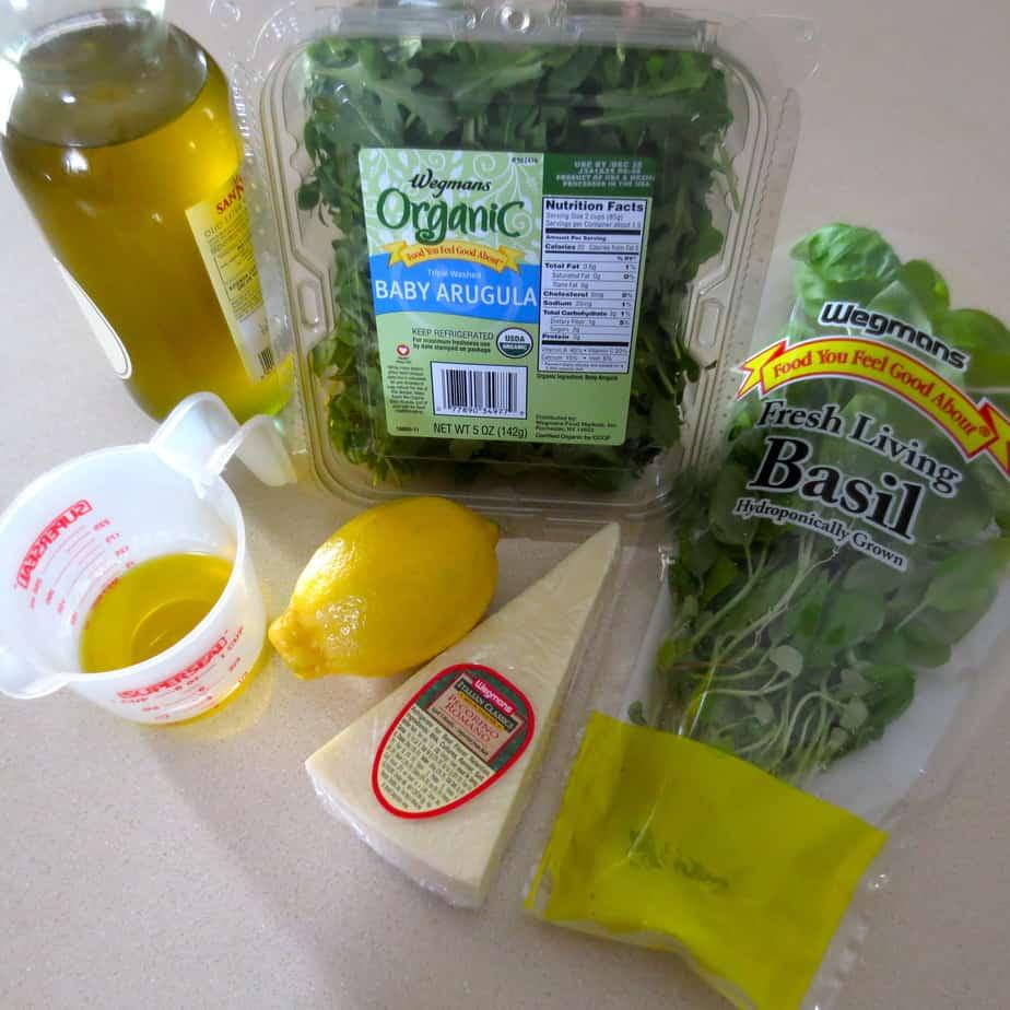 Basil Lemon Parmesan Dressing Ingredients