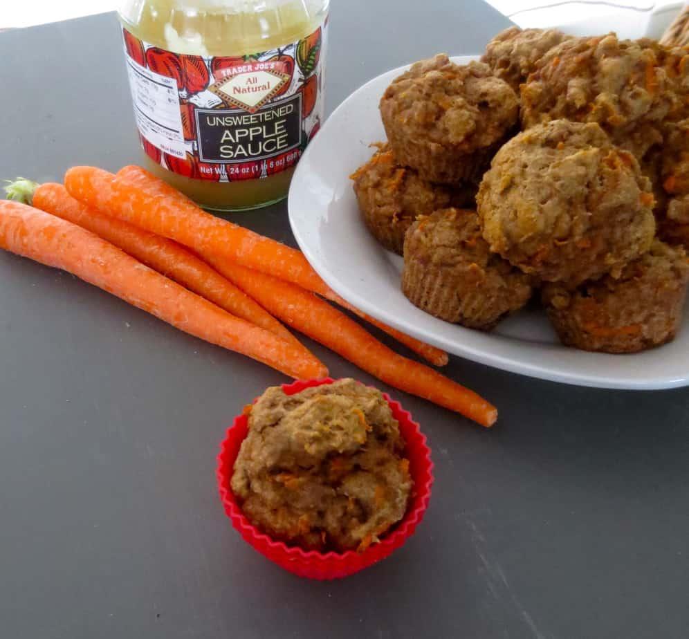 Sugar Free Carrot Applesauce Muffins