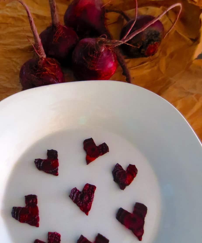 Heart Beet Chips