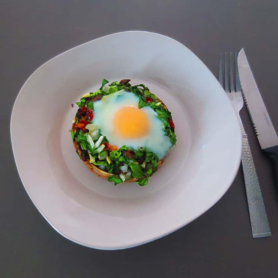 Veggie & Egg Portobella Caps