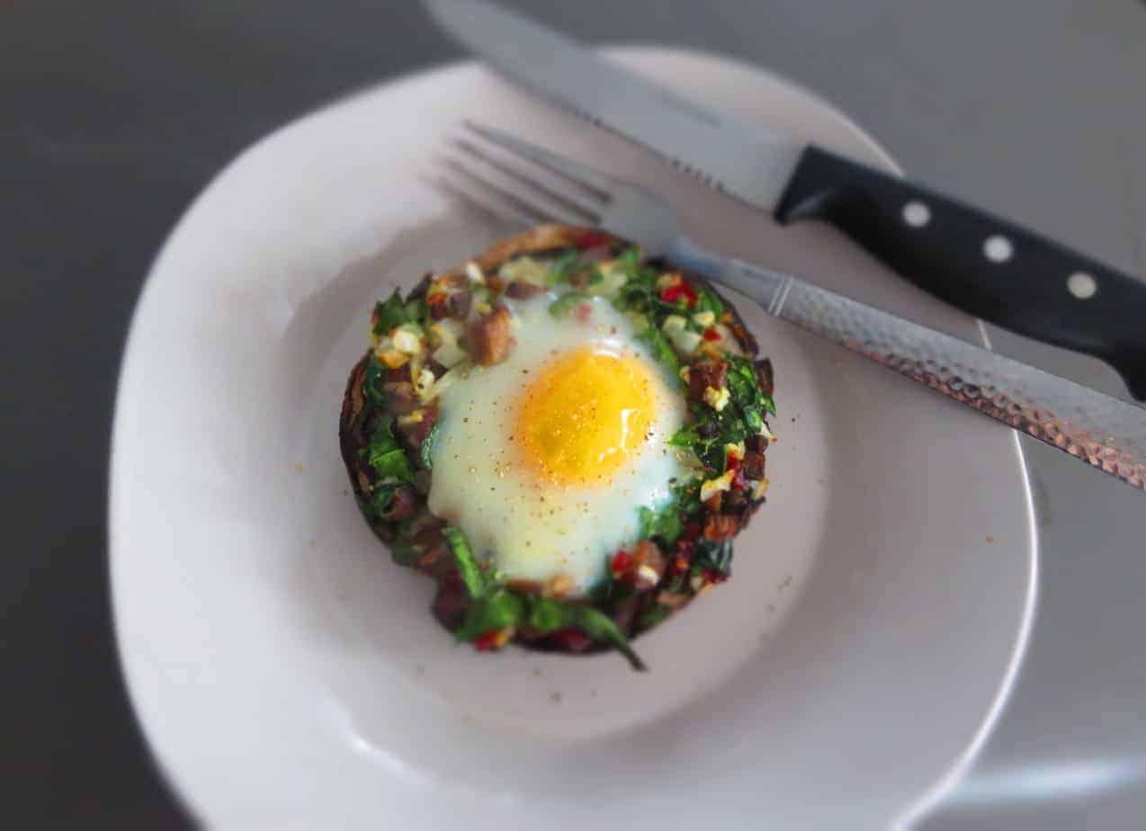 Paleo Portobello Breakfast Caps