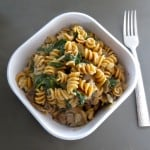 One Pot Pasta: Mushroom, Spinach, Goat Cheese (100% Whole Wheat)