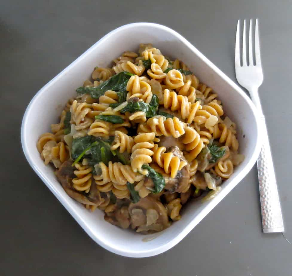 One Pot Pasta Mushroom Spinach Goat Cheese 100 Whole