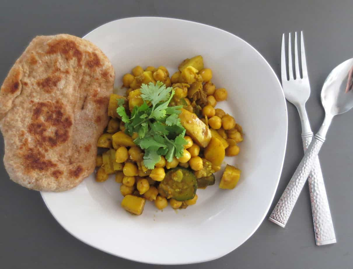 Curried Vegetables and Chickpeas
