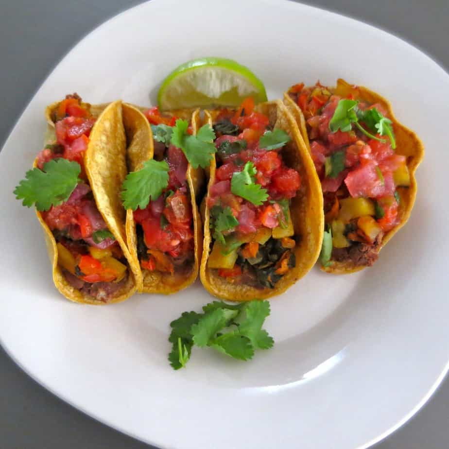 Roasted Veggie Tacos With Sweet Potatoes