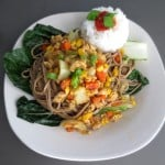 Ginger-Soy Tempeh Over Soba