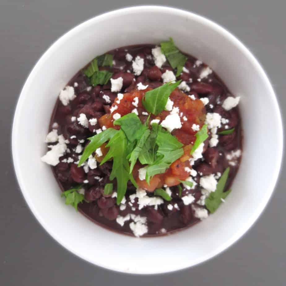 Warm Black Bean Bowl
