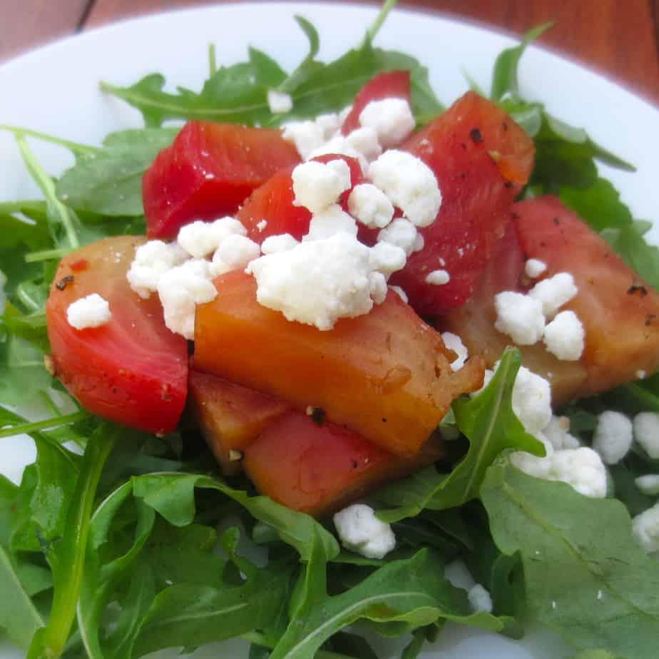 Balsamic Beet Salad With Arugula and Feta
