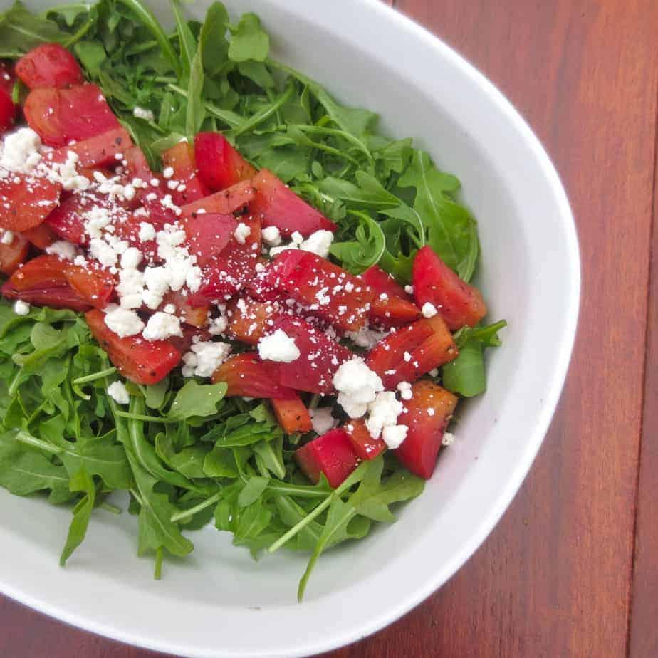 Balsamic Beet Arugula Salad with Feta