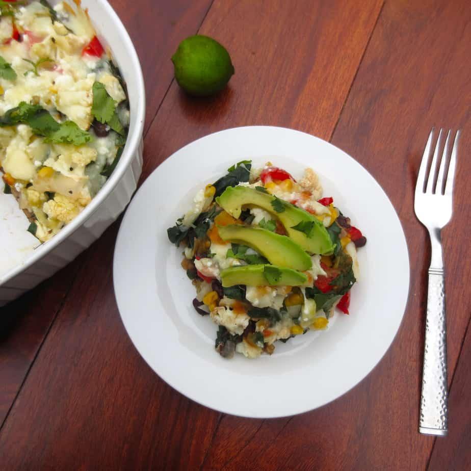 Easy Vegetarian Mexican Casserole