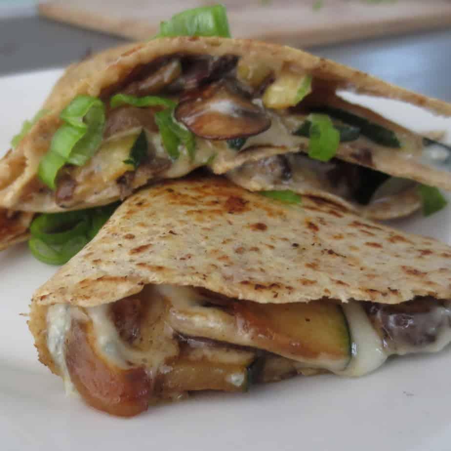 Blue Cheese Mushroom Quesadilla | Frugal Nutrition