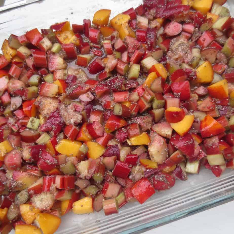 Peaches, Nectarines, and Rhubarb