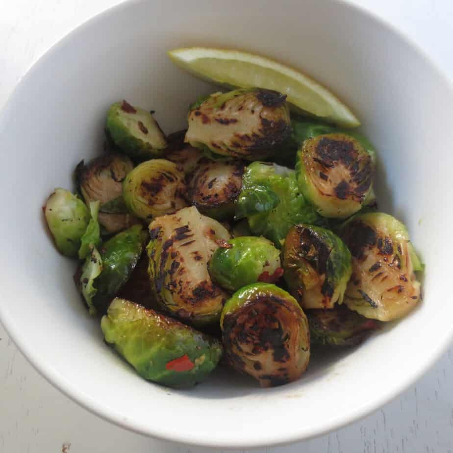 Lemony Caramelized Brussels Sprouts