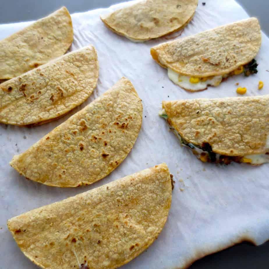 Easy to Freeze Taco Quesadillas