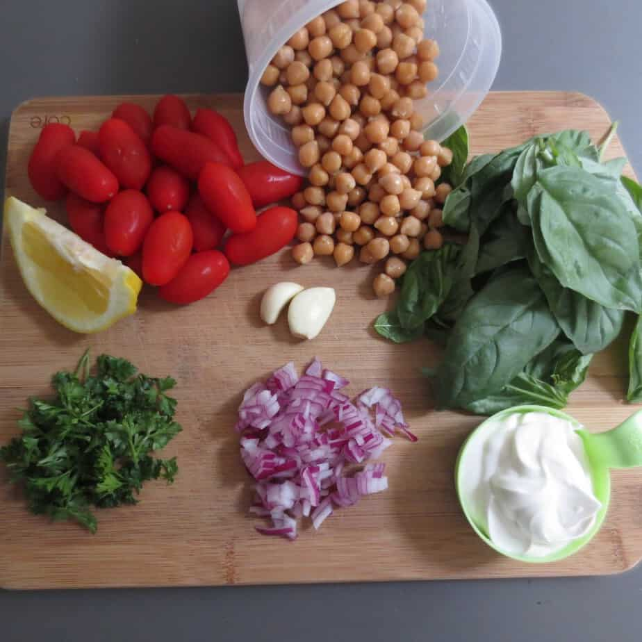 Creamy Chickpea Salad Ingredients