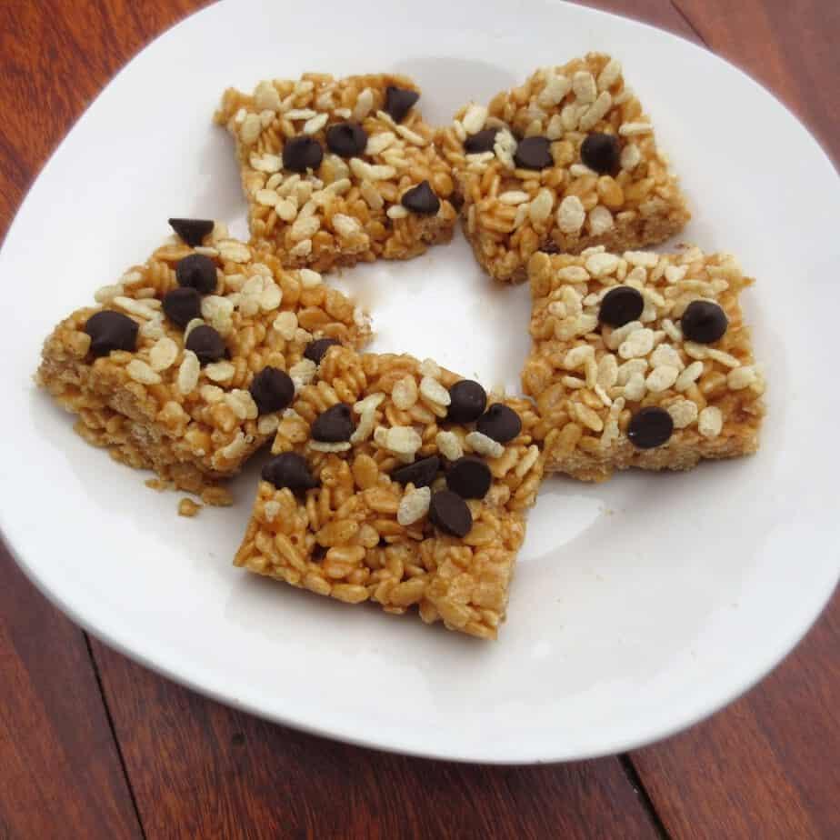 Peanut Butter Honey Brown Rice Crispy Treats