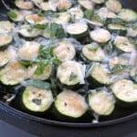 Skillet Kale-Zucchini Gratin