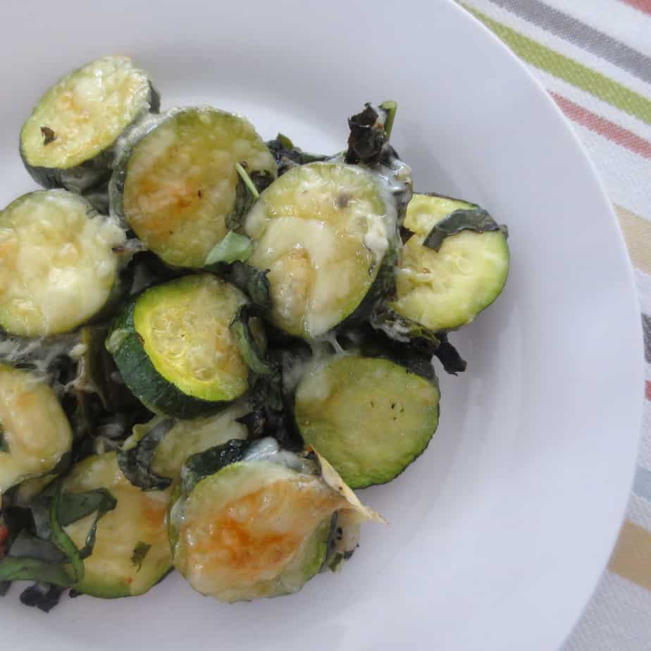 Leftover Zucchini Kale Gratin
