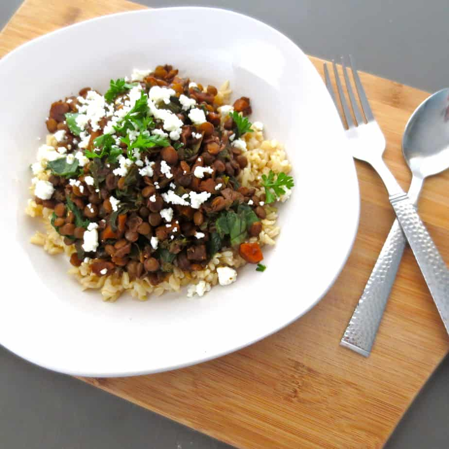 Easy Balsamic Lentils