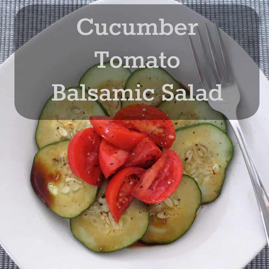 Cucumber Tomato Balsamic Salad