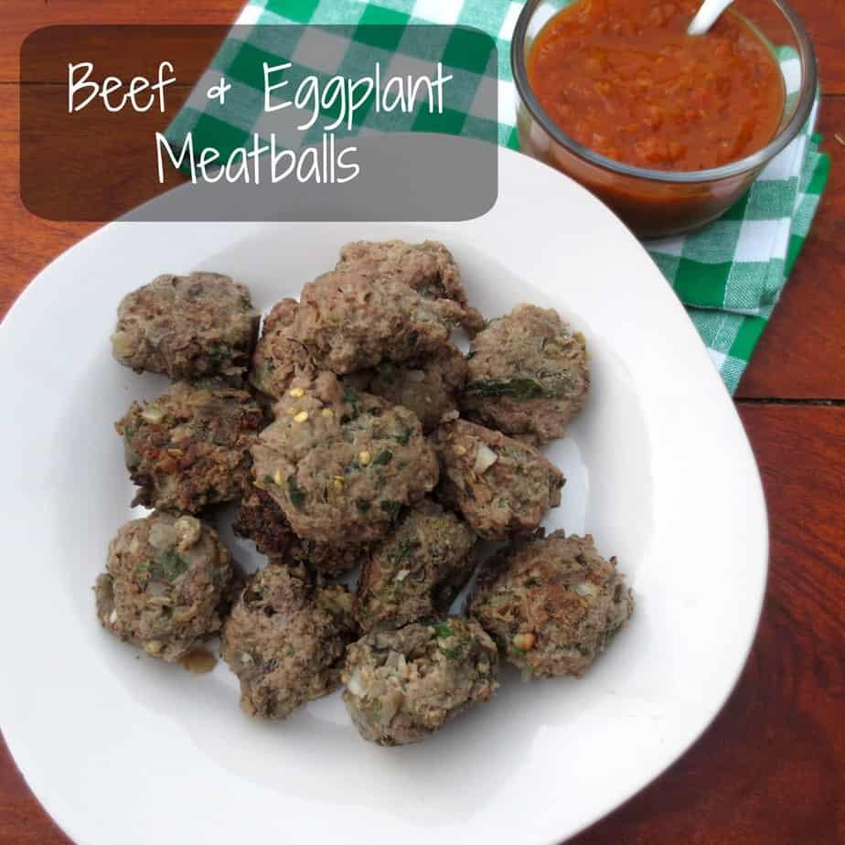 Beef & Eggplant Meatballs