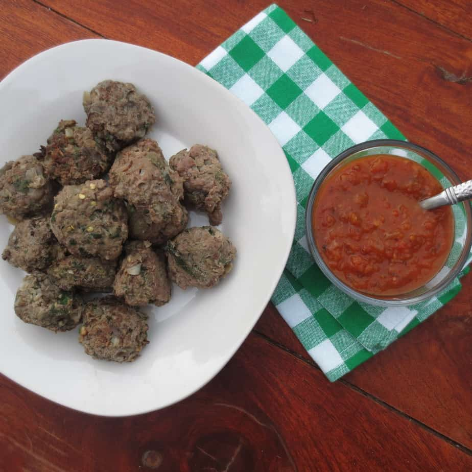 Frugal Nutrition Beef & Veggie Meatballs