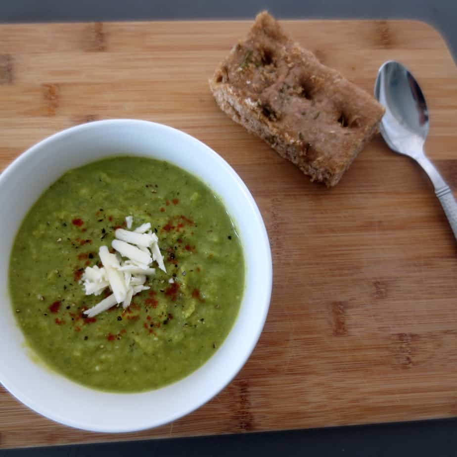 Broccoli Kale White Cheddar Soup