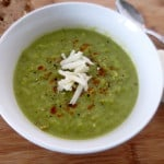Broccoli-Kale White Cheddar Soup