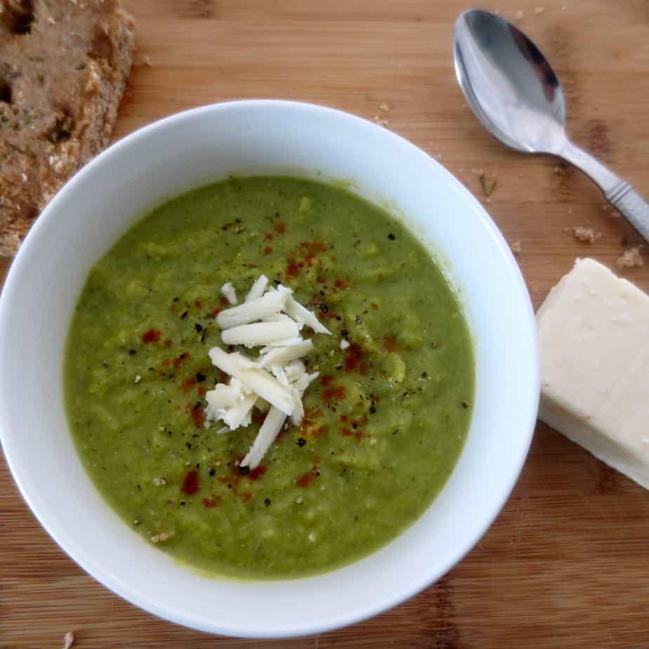 Broccoli Kale Cauliflower Fennel Cheddar Soup
