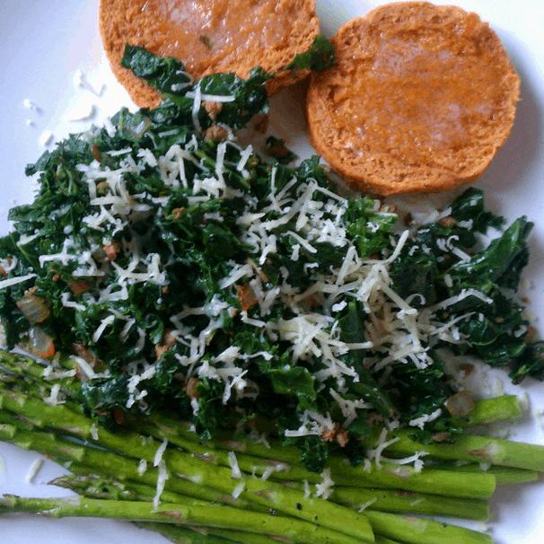 Sweet Potato Biscuits and Veggies