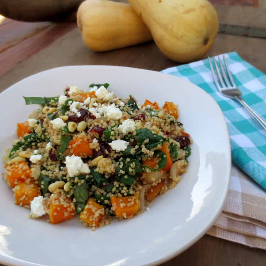 Whole Wheat Couscous with Squash, Swiss Chard