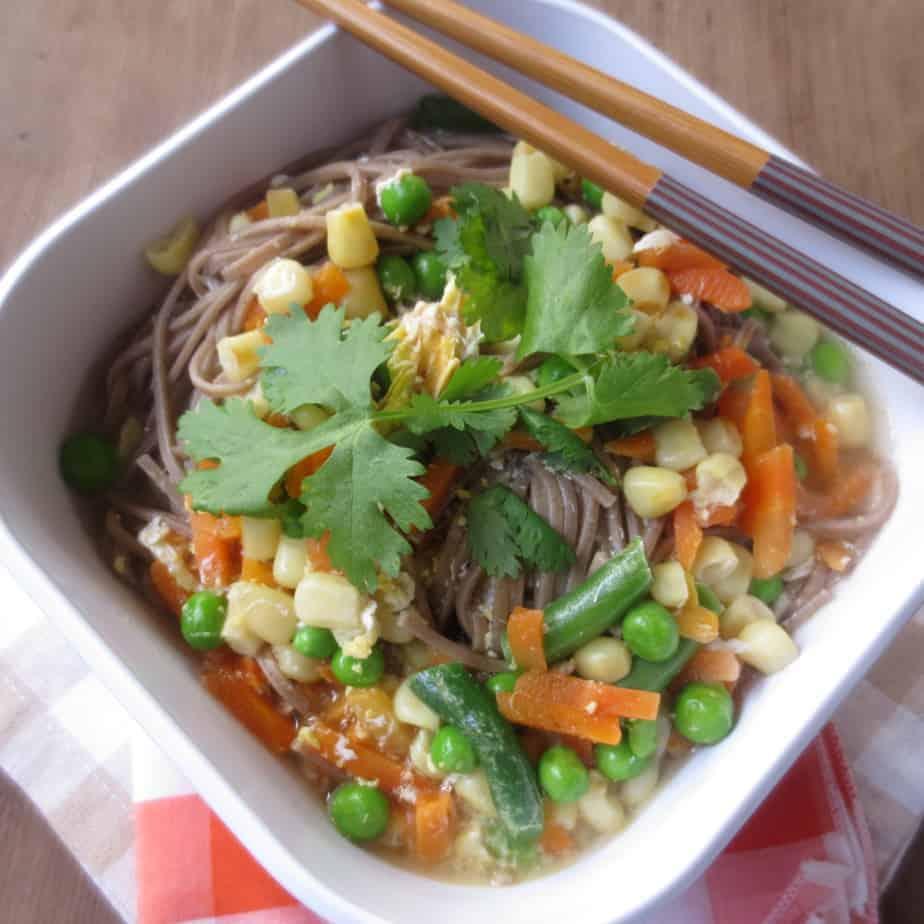 Fast Recipes Egg Drop Soba Ramen With Veggies