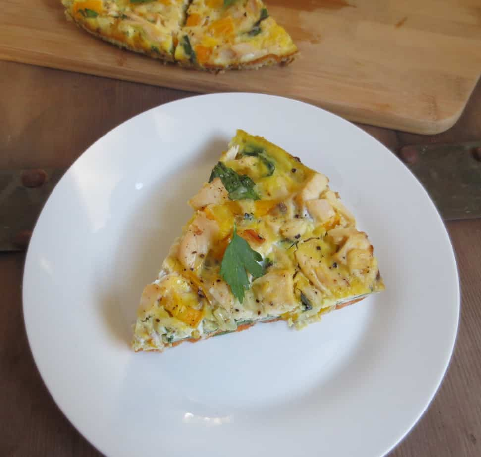 Sweet Potato Chicken and Vegetable Frittata