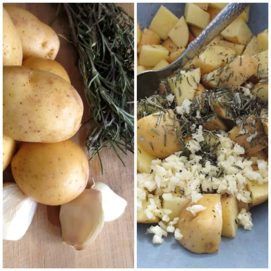 Simple Rosemary Garlic Roasted Potatoes