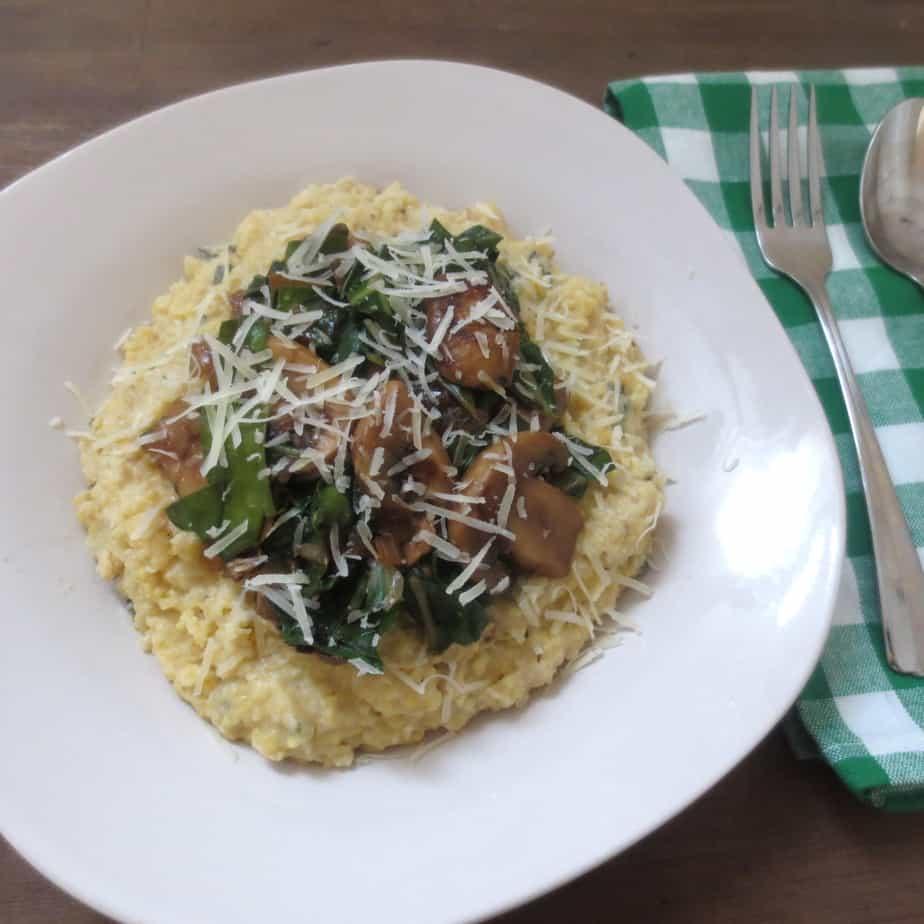Fresh Mushroom Polenta
