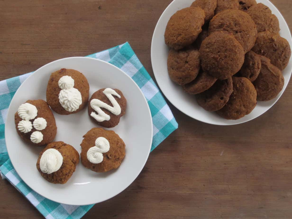 Spiced Ginger Molasses Cookies with Cream Cheese Icing
