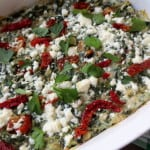 Red & Green Lasagna With Kale and Sun Dried Tomatoes