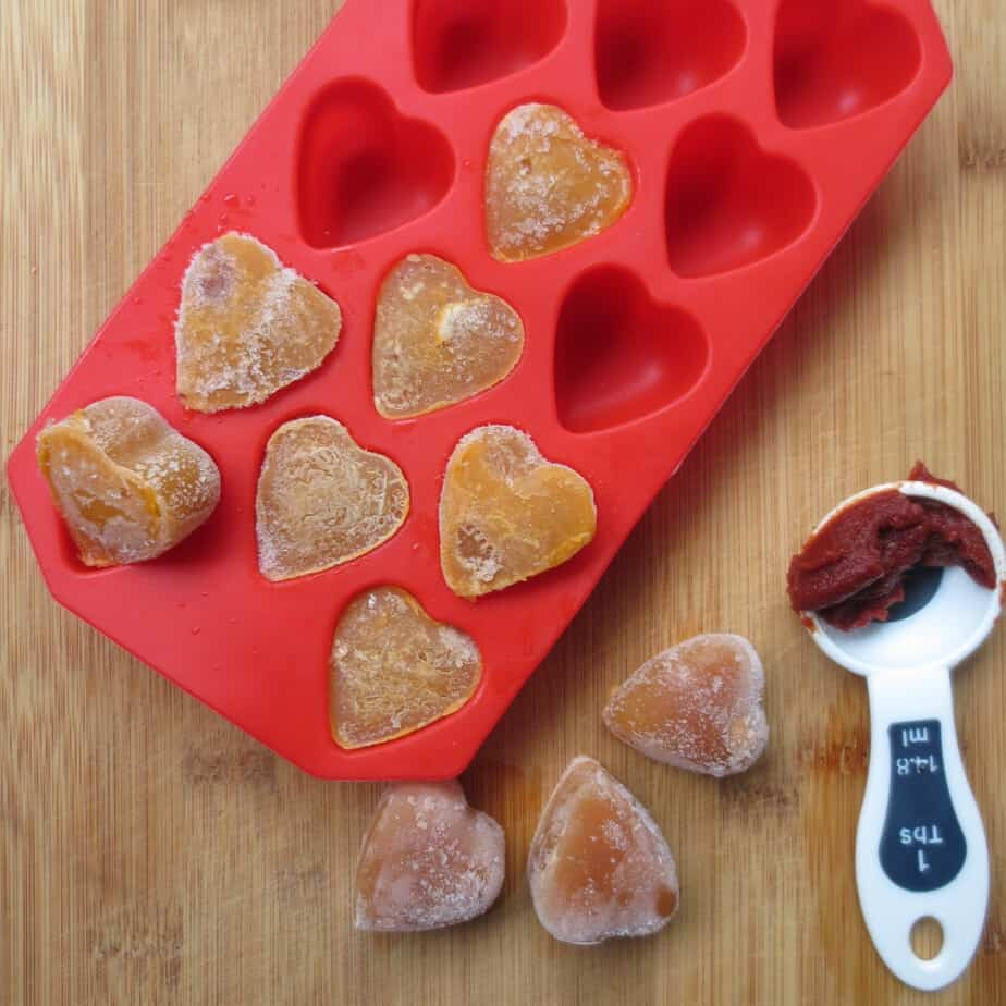 Homemade Concentrated Veggie Broth Cubes with Tomato Paste - Perfect for adding to soups, sauces, grains, beans, and more!
