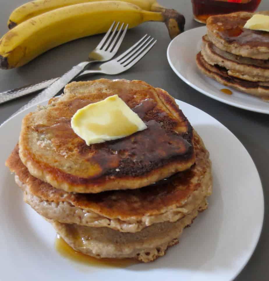 Whole Wheat Banana Buttermilk Pancakes