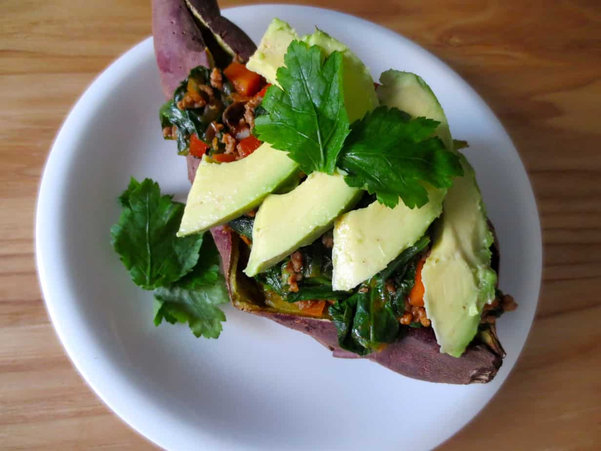 Paleo Taco-Stuffed Sweet Potatoes