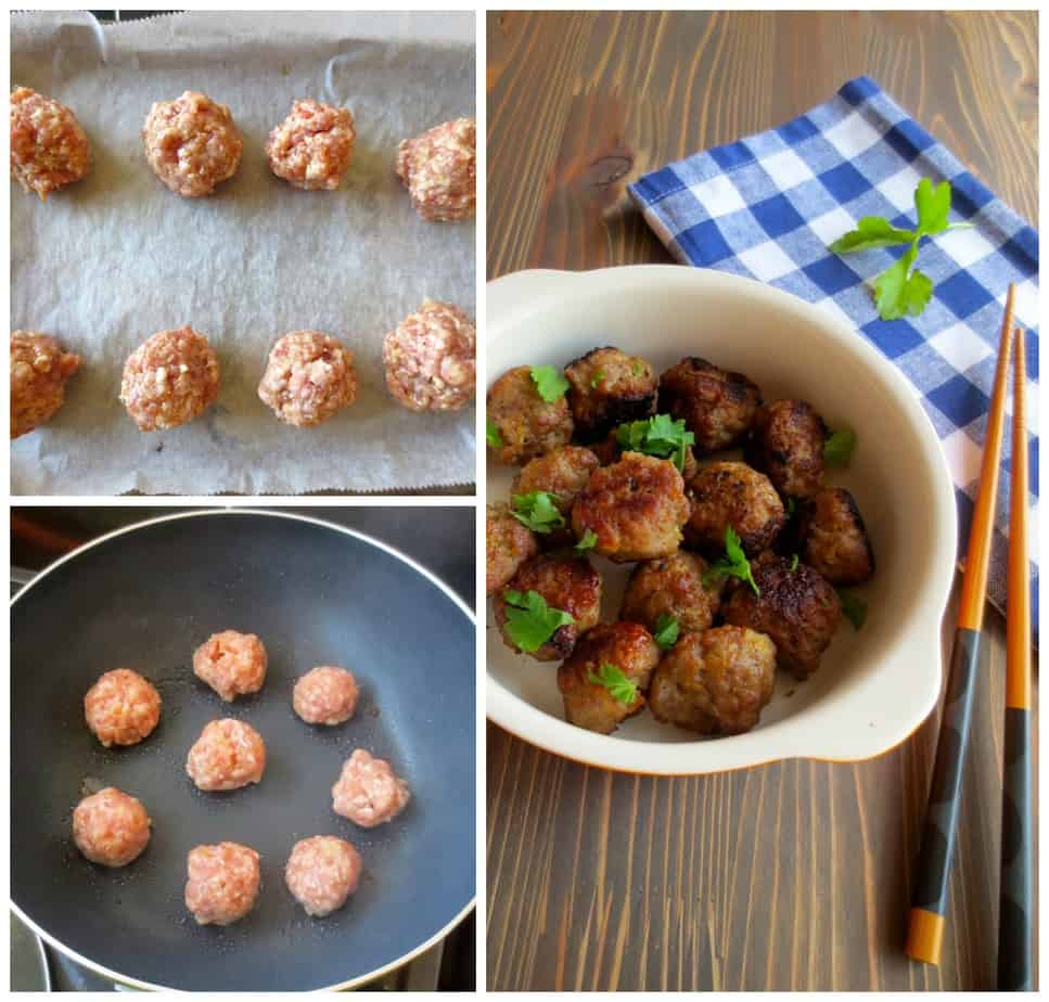 Easy Delicious Miso Meatballs