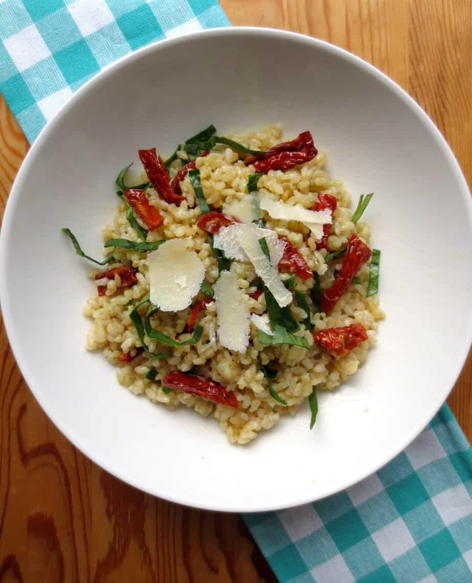 Parmesan Garlic Rice with Sun Dried Tomatoes