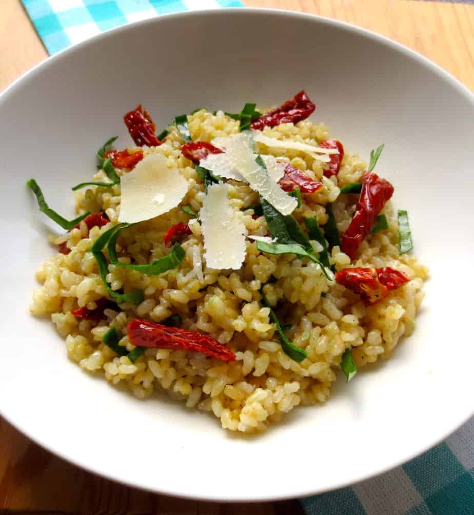 Easy Sides: Parmesan Garlic Rice with Sun Dried Tomatoes