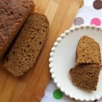 Whole Wheat Rice Cooker Banana Bread with Dried Plum Syrup