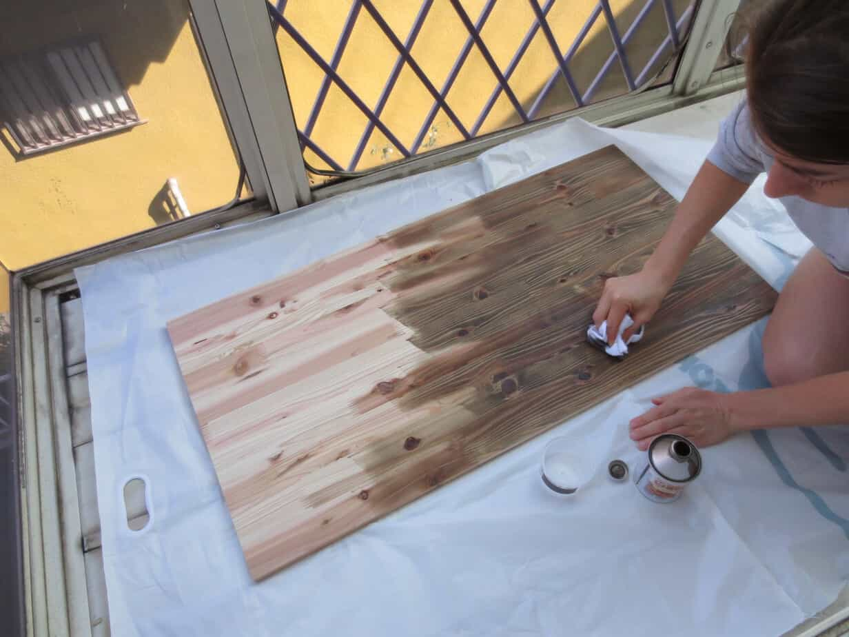 Staining Wood - Photo Board/Coffee Table