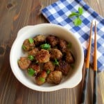 Easy Miso Meatballs (Turkey, Beef, Chicken, or Pork) No Bread Crumbs!